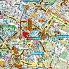 Central Berlin tourist map ....All I want to do is go to Berlin!