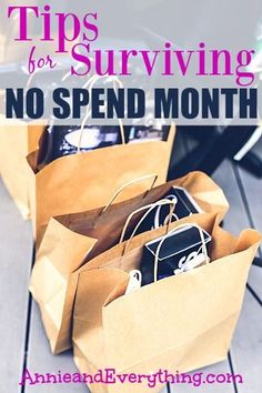 Doing a no spend month is a great way to get control of your money in a hurry.  Read these tips for how to survive all the way to the end!