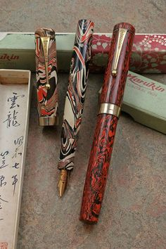 - Japan - Asia - The Fountain Pen Network Ex Libris, Fountain Pen Ink, Fountain Pen Vintage, Dog Pen, Luxury Pens, Fine Pens, Pen Collection, Pen Turning, Stationery Pens