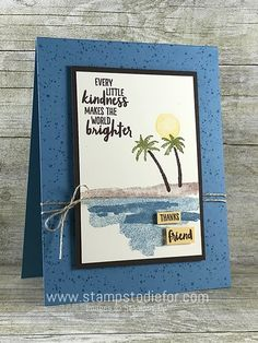 handmade card using the Waterfront stamp set by Stampin Up