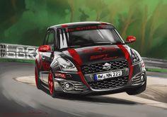 Aprilia Dorsoduro / Lotus Exige S / Alpine GTA V6 Turbo / Suzuki Swift & Artega GT Rent4Ring