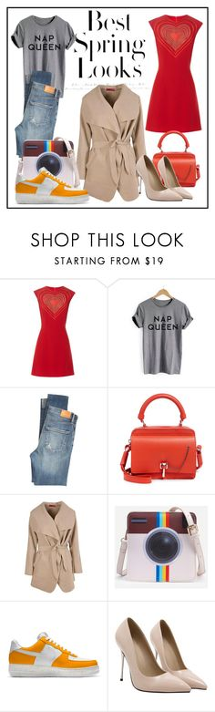 """One cloak - 2 looks"" by winter-edition ❤ liked on Polyvore featuring Christopher Kane, H&M, Citizens of Humanity, Carven and Boohoo"