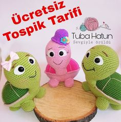 In this article we will share the amigurumi cute turtle free crochet pattern. Amigurumi related to everything you can not find and share with you. Crochet Animal Amigurumi, Crochet Gratis, Amigurumi Doll, Crochet Animals, Amigurumi Patterns, Crochet Toys, Crochet Baby, Free Crochet, Crochet Round