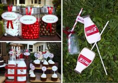 milk and cookies party - Kara's Party Ideas