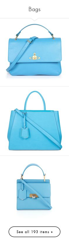 """""""Bags"""" by linn-way ❤ liked on Polyvore featuring bags, handbags, accessories, purses, light blue bag, vivienne westwood handbags, blue bag, tablet purse, blue purse and tote bags"""