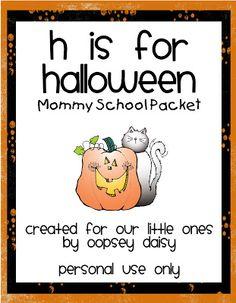 H is for Halloween Packet :  Halloween activities and Printables for Preschool.