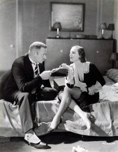 With Wallace Beery, 1932, in Grand Hotel