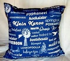 Items similar to Afrikaans Pillow Cushion A. Fabric printed with Afrikaans words. Made with invisible zipper. Only cover. x or 19 x 19 on Etsy Afrikaanse Quotes, Africa Art, Cushion Fabric, Printing On Fabric, Projects To Try, Interior Decorating, Cushions, Messages, Throw Pillows