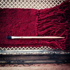 the fire and the flame red tweed handwoven by TheWeaverOfWords