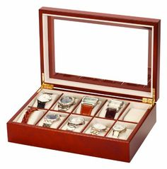 Socially Conveyed via WeLikedThis.co.uk - The UK's Finest Products -   Mele & Co Luxury Walnut Wood 10 Watch Display Case Storage Box Wooden Watchbox http://welikedthis.co.uk/mele-co-luxury-walnut-wood-10-watch-display-case-storage-box-wooden-watchbox