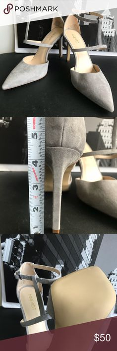 🙌🏾Brand New Nine West Heels #0274NW Brand  new Nine West soft suede gray leather heels with T-strap detail. Tornaydoo #women #shoes #gray #heels #pumps #ninewest #size10 #size40 #size41 Nine West Shoes Heels