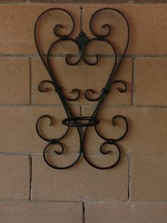 Items similar to Two heart wrought iron flower pot holder on Etsy – Metal Plant Hanger Wrought Iron Decor, Wrought Iron Gates, Wall Candle Holders, Plant Holders, Metal Plant Hangers, Flower Holder, Metal Bending, Iron Furniture, Flower Stands