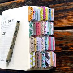 Bible Tabs w/Laminating Stickers Set 1 by thesaltybiscuit on Etsy Journaling Bible book of the Bible.