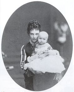 RARE PHOTO - Baby Nicholas with his Mother, Marie