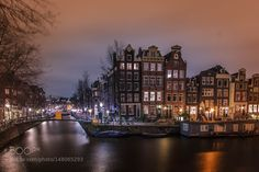 Amsterdam Canals and houseboat by M_Boer