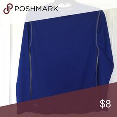 Royal blue long sleeve dri fit shirt Long sleeve, royal blue, dri-fit shirt. Like new Shirts & Tops Tees - Long Sleeve