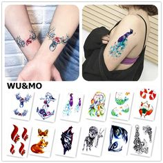 Cheap stickers for men, Buy Quality tattoo sticker directly from China tattoo sticker for men Suppliers: WU&MO New Arrival Colorful Painting Animals Fake Flash Sexy Body Art Temporary Tattoo Stickers For Man Woman