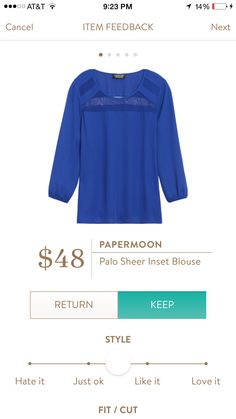 Love the color, 3/4 sleeves and detail - perfect work shirt.  Open to patterns in a similar fit/style as well.