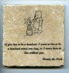 Winnie the Pooh Quote Wall Art Tumbled Tile Coaster Natural Stone Piglet If There Ever Comes No 2 | 8D | Pinterest | Piglets Quote wall art and Tile ... & Winnie the Pooh Quote Wall Art Tumbled Tile Coaster Natural Stone ...