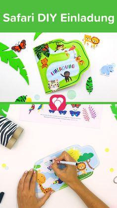 Bastele Deine Einladungskarte zum #Kindergeburtstag einfach selbst! Mit der Safari Einladung Vorlage ist das ganz einfach und Du kannst Deine #Einladung auf vielfältige Weise individualisieren. 🦁🐍🐵  Probiers direkt aus und lade Dir die Safari Einladung für Dich und Dein Kind herunter.   Viel Spaß beim Basteln! Dein balloonas Team   #safarigeburtstag #dschungelgeburtstag #bastelnmitkindern #download #DIY #Einladungskarte #balloonas #safarieinladung Party, Invitation, Diy, Safari Invitations, Invitation Text, Invitation Cards, Do It Yourself, Fiesta Party, Bricolage