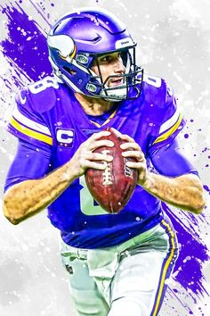 Minnesota Vikings Football, Nfl Dallas Cowboys, Pittsburgh Steelers, Indianapolis Colts, Cincinnati Reds, Minnesota Vikings Wallpaper, Viking Wallpaper, Kirk Cousins, Sports Art