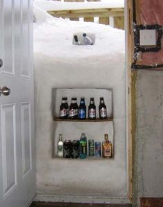 The Natural Outdoor Fridge - 19 Awesome Winter Hacks That Everyone Should Know