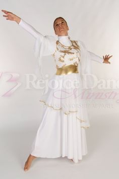 The Bride Embroidered Tunic - Praise & Worship Dance Wear