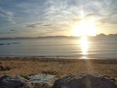Sunset at Corong Corong Beach, El Nido, Palawan, Philippines