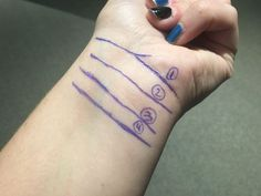 We all have lines on our wrist, and here's what yours say about you Palm Reading Lines, Palm Reading Charts, Life Line On Hand, Indian Palmistry, Home Doctor, Palm Of Your Hand, Types Of Nails, Healing Hands, Little Things
