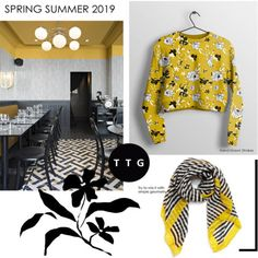 Spring Summer 2019 Colour Trend: Mustard Yellow, Black and White - The Textile Guild Black Women Fashion, High End Fashion, Fashion Edgy, Fashion Top, Fashion Boots, Formal Fashion, Fashion Sandals, Fashion Outfits, Fashion 2018