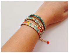 "Collection "" Liberty"" : bracelet brésilien en perles Miyuki et Liberty : Bracelet par mademoiselle-cachou"