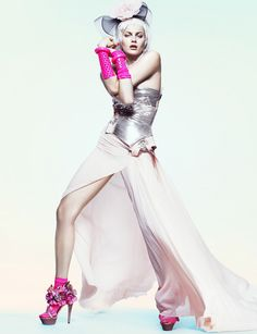 Versace gown, Viktor & Rolf shoes