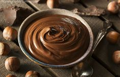 This creamy chocolate hazelnut butter recipe may not be Nutella, but it's so addictive you'll want to eat it by the spoonful. Breakfast Buffet, Breakfast Cookies, Nutella Fit, Best Nutella Recipes, Tortas Low Carb, Hazelnut Butter, Peanut Butter, Hazelnut Spread, Dairy Free Chocolate