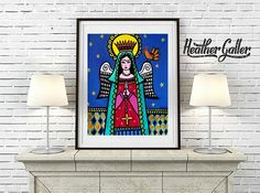 DIGITAL Print File - Mexican Folk Art Angels art Art Print Poster by Heather Galler (HG657)