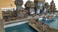 medieval port miniature minecraft fantasy silva layout castle mini chris providence da buildings fort terrain houses stalls french