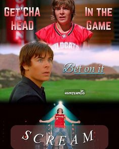 Troy a chanté : Get'cha head in the game dans High School Musical 1 Be on it dans High School Musical 2 Scream dans High School Musical 3 High School Musical Quotes, Hight School Musical, School Quotes, School Humor, Funny School, Old Disney Channel, Disney Channel Movies, Disney Movies, Troy Bolton