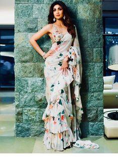 Ruffle Trend in Indian Ethnic Wears - Ethnic-rack.com #ruffle #indianfashion #fashion #worldwideshipping #uk #germany #canada #southafrica