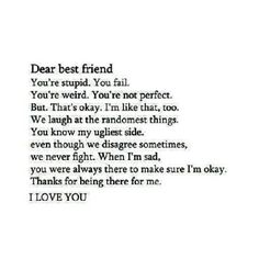 #bestfriend #love #forever PinQuotes.com