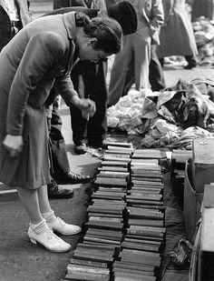 Book shopping, Chicago, Illinois-1940's