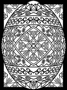 Free printable Easter coloring page: Stained-glass egg