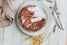 Healthy paleo almond Recipe testing yellow cake