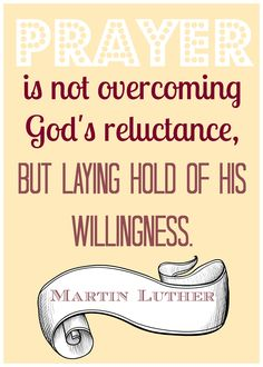 Prayer Quote - Martin Luther