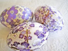 Easter Eggs Lavender Easter Eggs Purple Easter by CatnipStudioToo