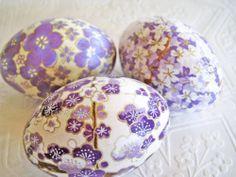 Easter Eggs Lavender Easter Eggs Purple Easter by CatnipStudioToo