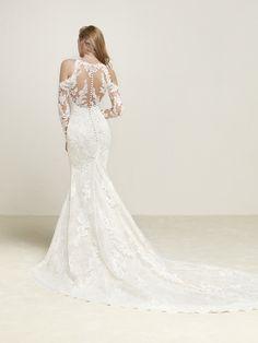 Vestido de novia encaje y chantilly
