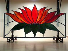 Glas in Lood voorzetraam Lotus