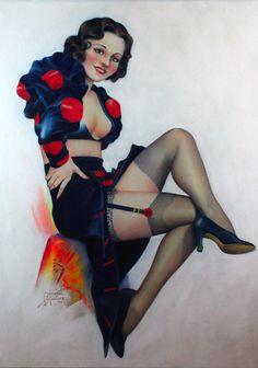 Pin Up Girls Vintage © Cardwell Higgins Pin Up Vintage, Vintage Beauty, Gil Elvgren, Pin Up Drawings, Pin Up Illustration, Pin Up Photography, Photo Pin, Vintage Artwork, Pin Up Art