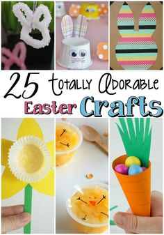 Whether you have toddlers or teens, these 20 Totally Adorable Easter Crafts will provide hours of crafting fun.