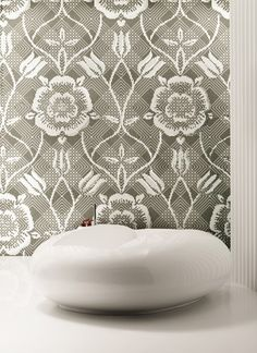 Tile feature wall - BISAZZA MOSAICO. Need for my future bathroom.