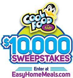 Want to win cold hard cash? Enter our Cool Food for Kids $10,000 Sweepstakes for a chance to win 1 of 5 $1,000 first prizes or the grand prize $5,000!